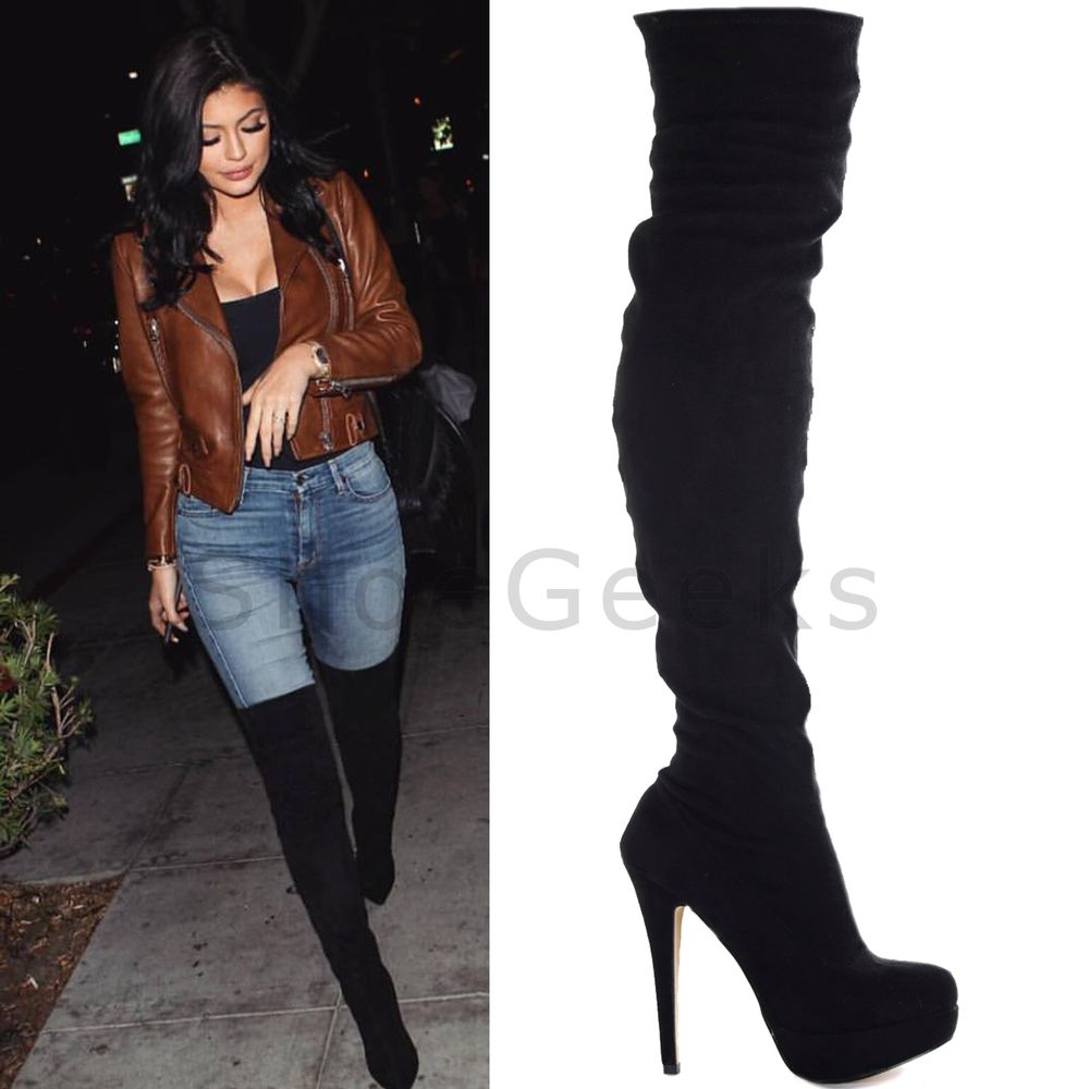 thigh high heeled boots boot yc