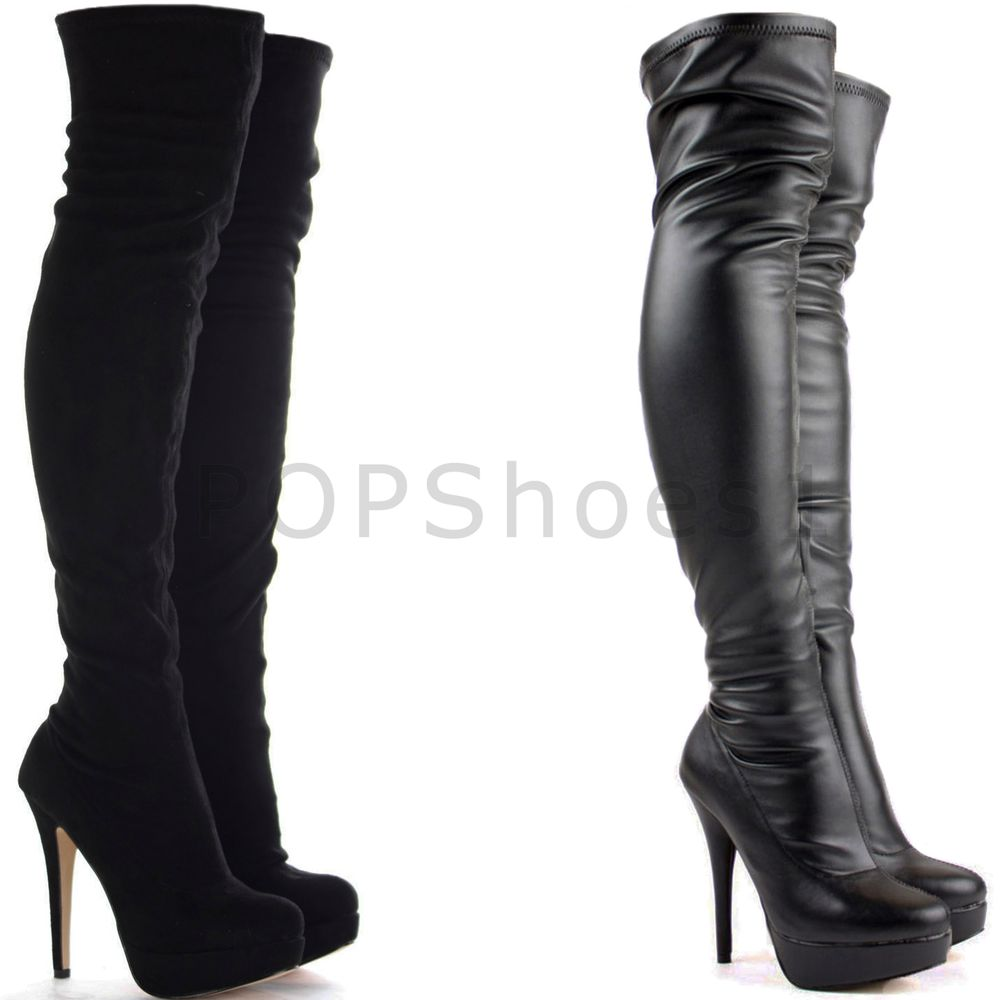 Thigh High Stiletto Boots KZA2RNjk