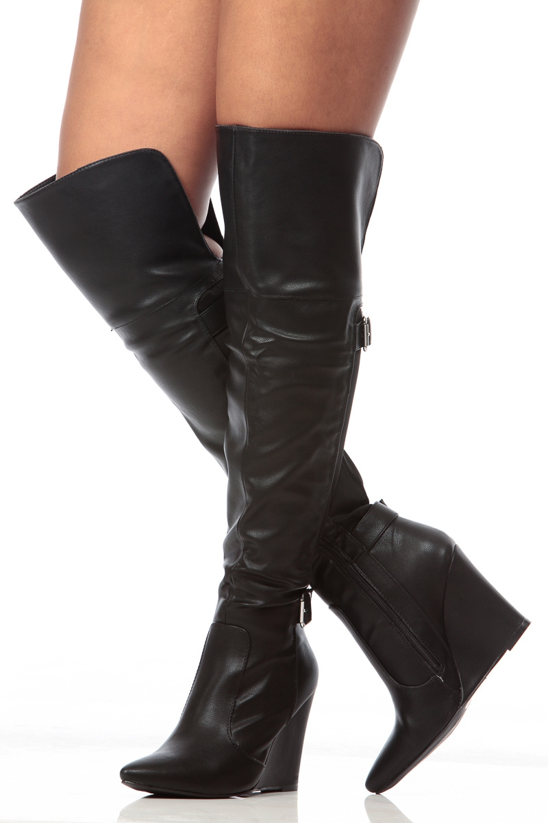 Thigh High Wedge Boots pGbTSDP3