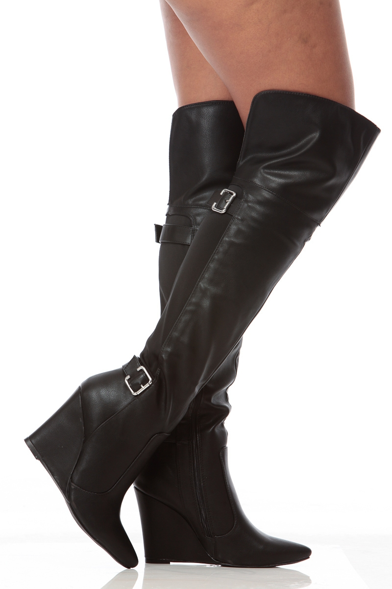 Thigh High Wedge Boots fyJF1217