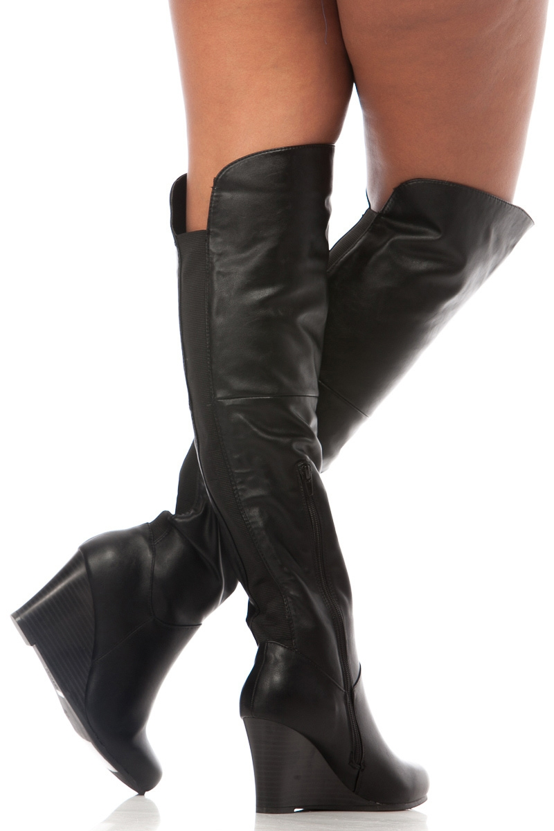 Thigh High Wedge Boots bU5MwQqC