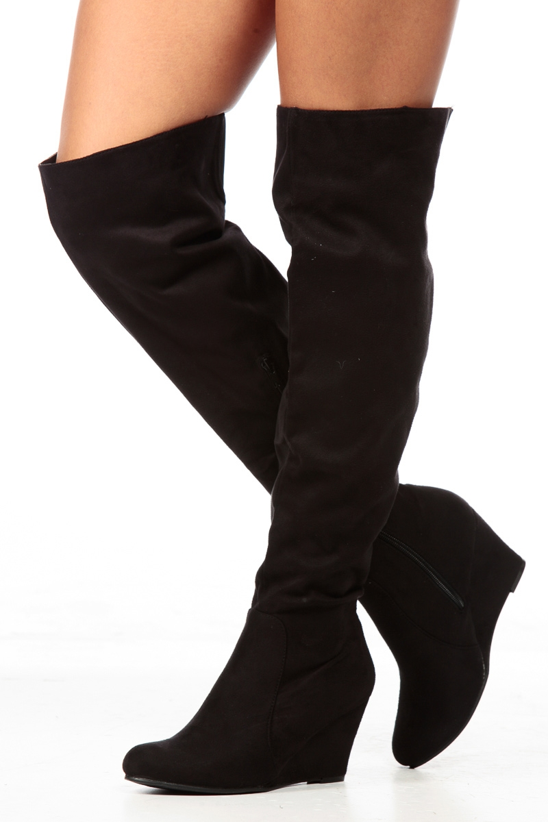 Wedge Over The Knee Boots ryC2YP0G