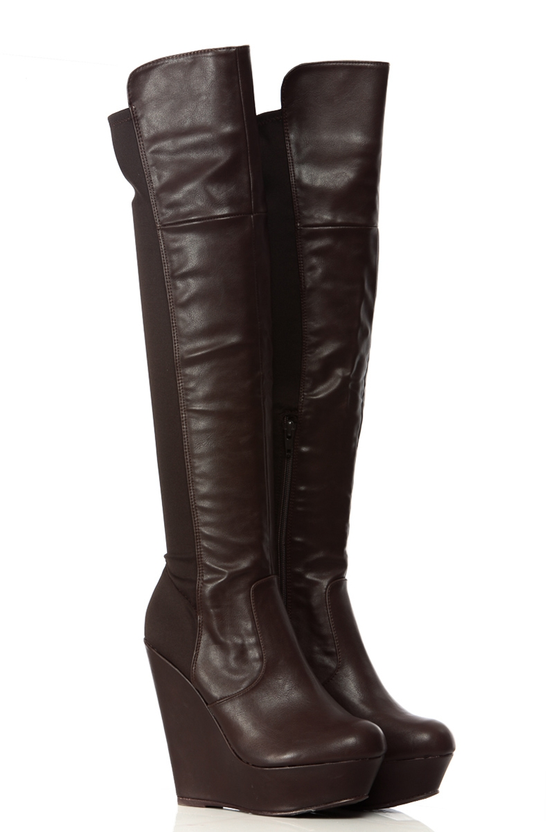 Wedge Over The Knee Boots tPEC2cJU