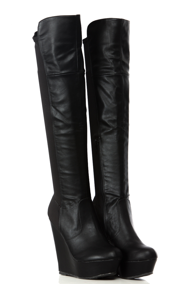 Wedge Over The Knee Boots KTZ9ByWg