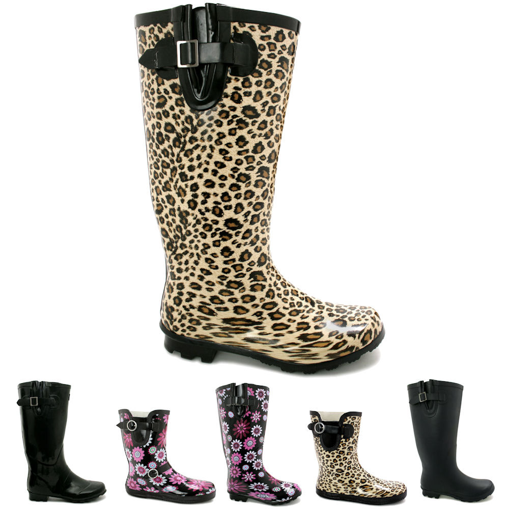 Wide Calf Rain Boots For Women QR3Yb9pl