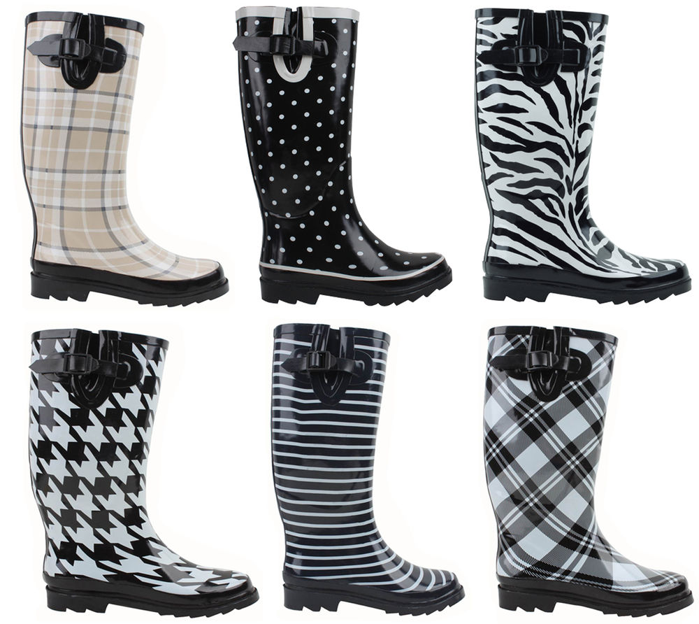 Wide Calf Rain Boots For Women hcMgYiFy