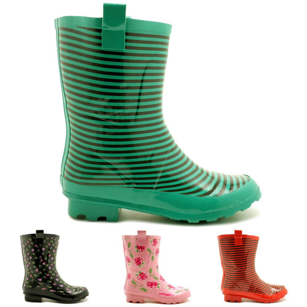Wide Calf Rain Boots For Women v07xSOEU