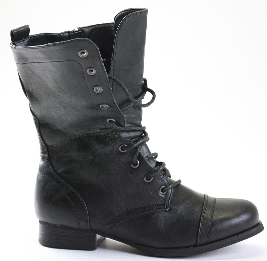Womens Black Lace Up Boots 0dR2v9f7