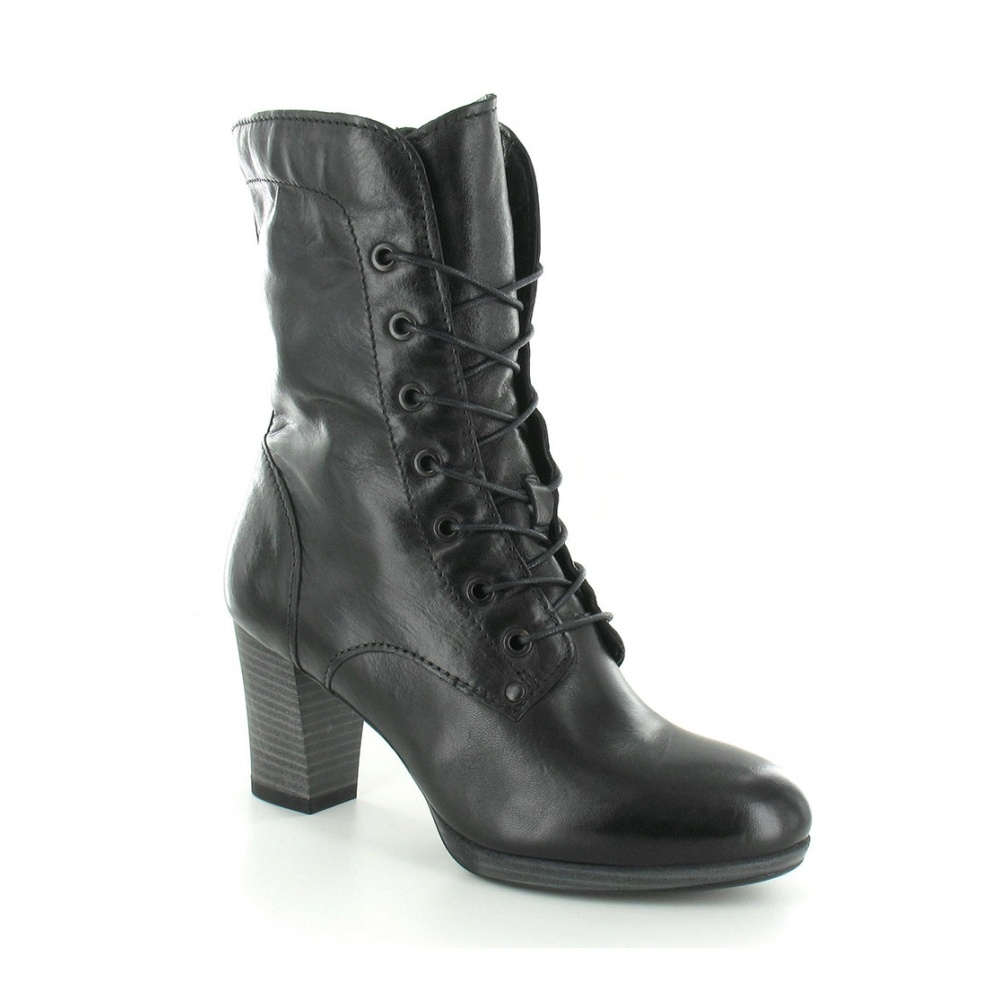 Womens Black Lace Up Boots URxnJofS