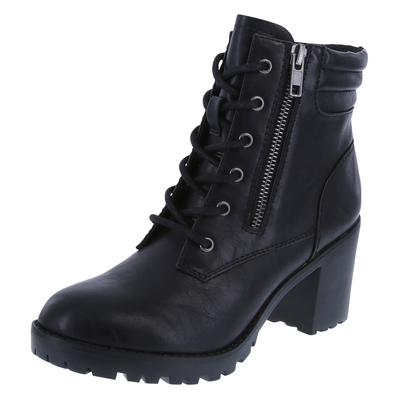 Womens Black Lace Up Boots Nnt3izQ2