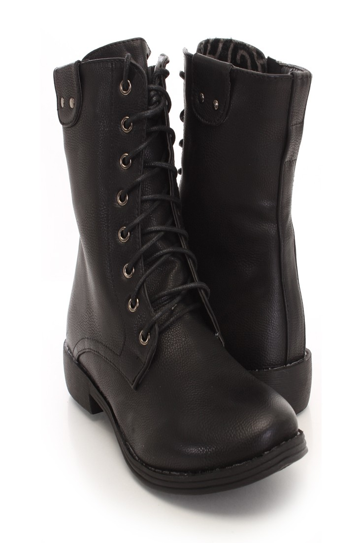Womens Black Lace Up Boots Pz9vDWUo