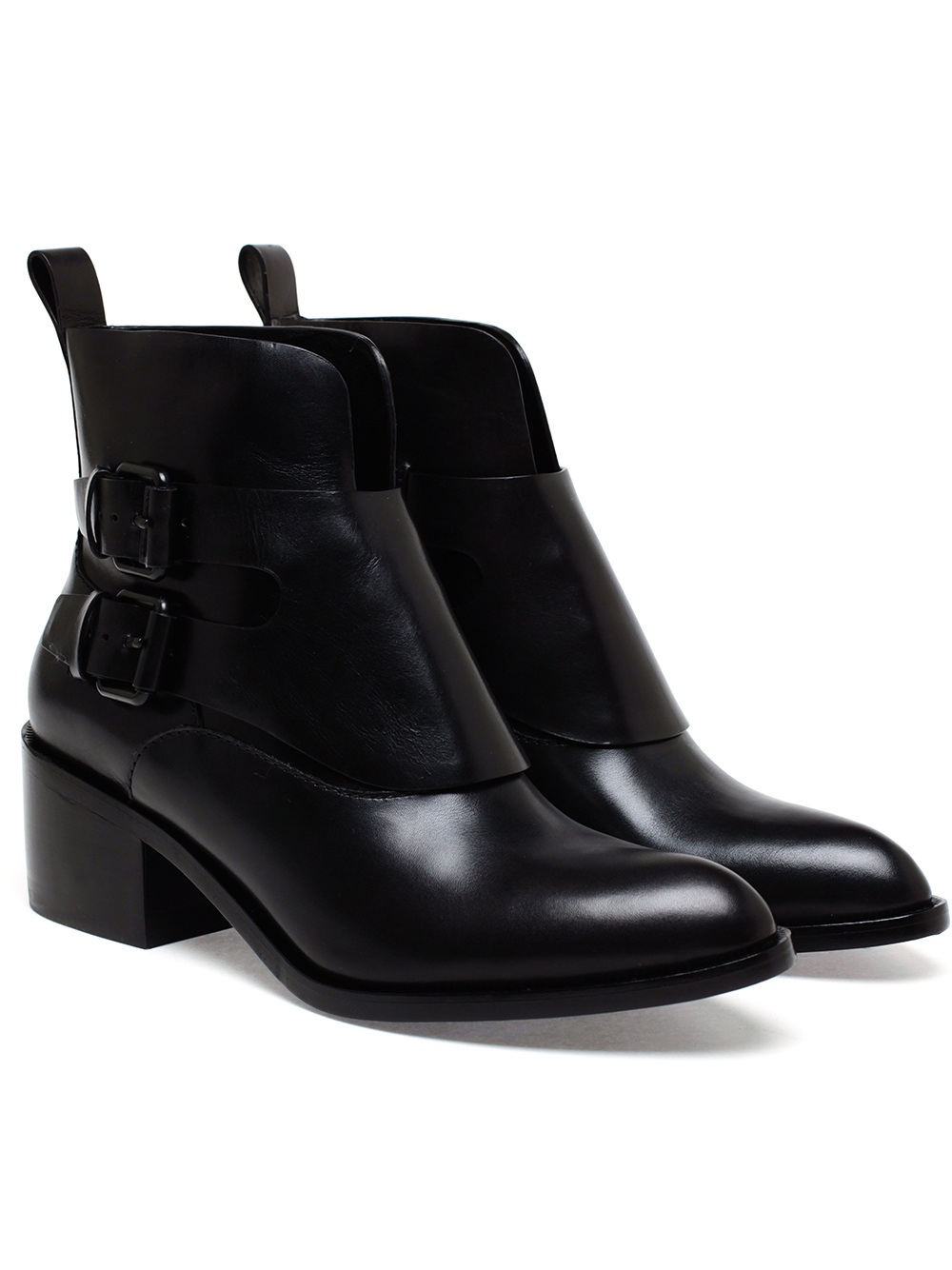 Womens Black Leather Ankle Boots rr47jWzw