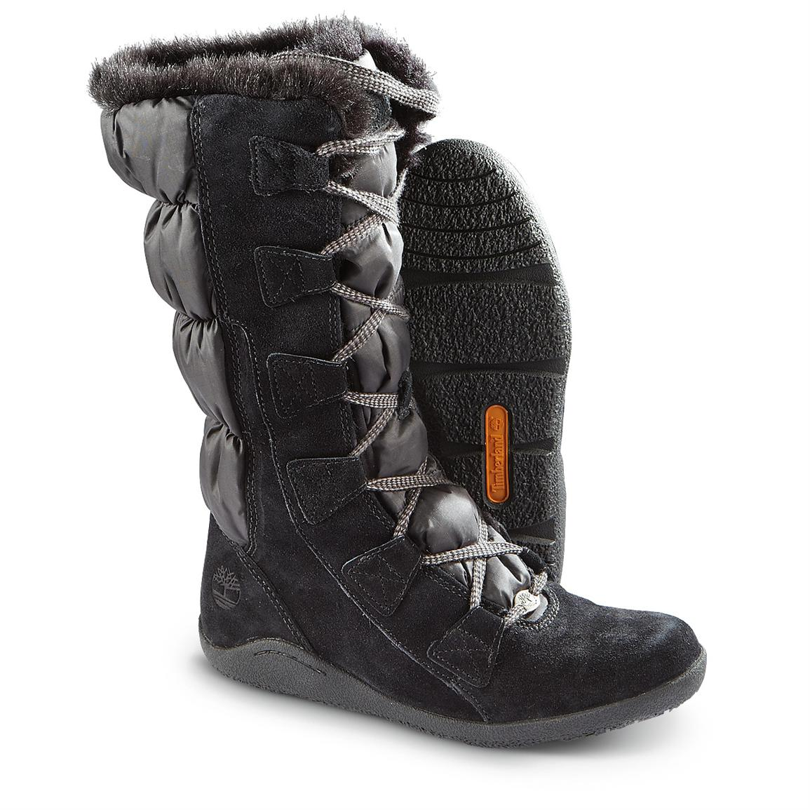 Womens Black Snow Boots Wc8RCrh1