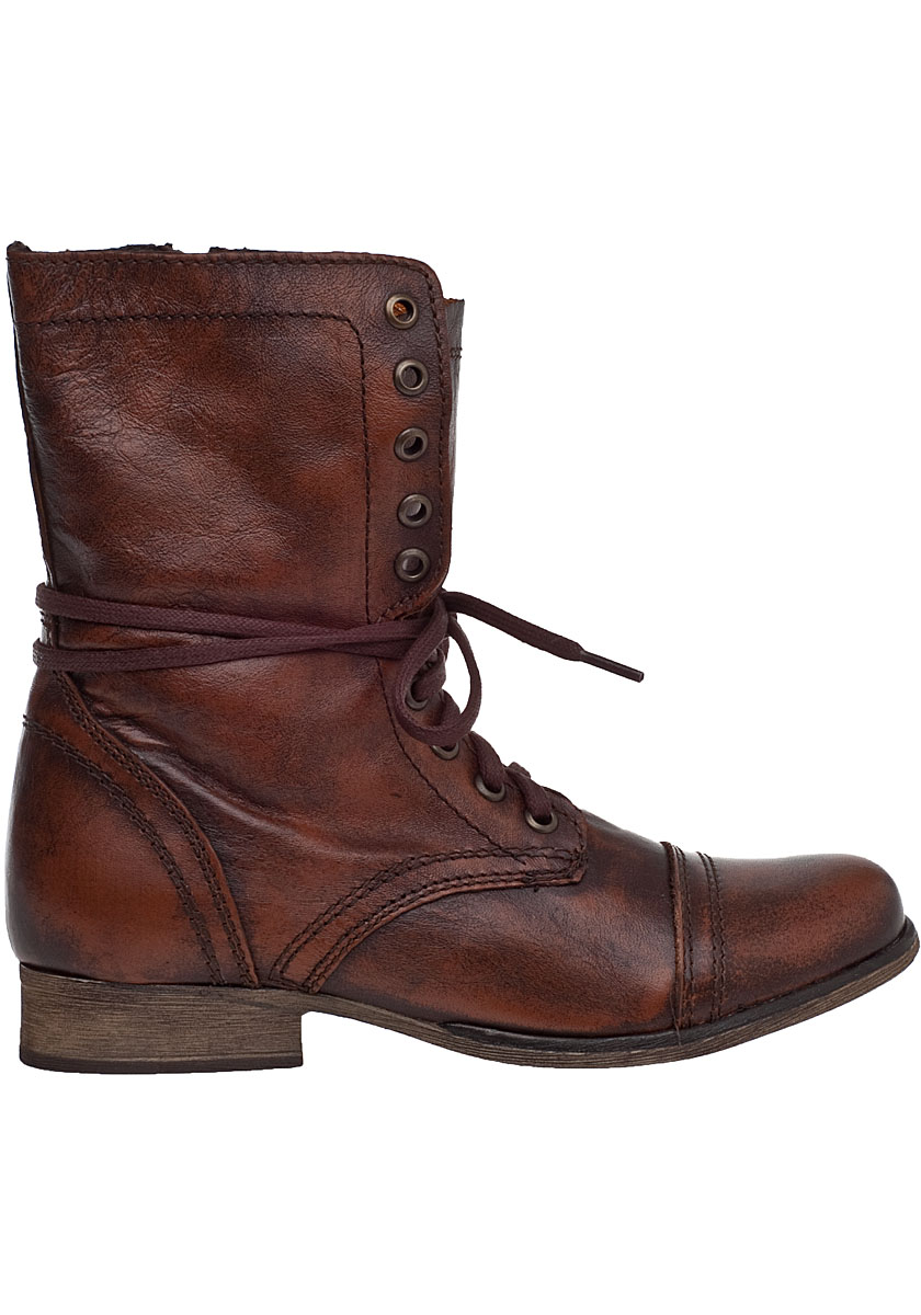 Womens Brown Combat Boots 6zetgweB