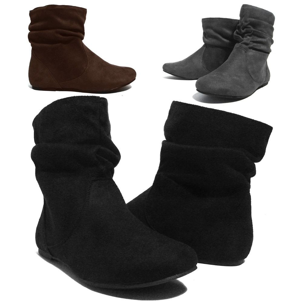 Womens Flat Ankle Boots hZnB6Nuy