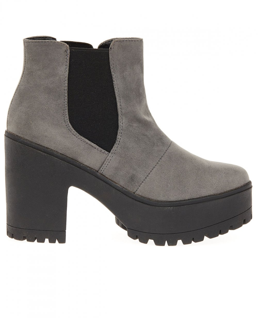 Womens Grey Ankle Boots sVpwEYnG