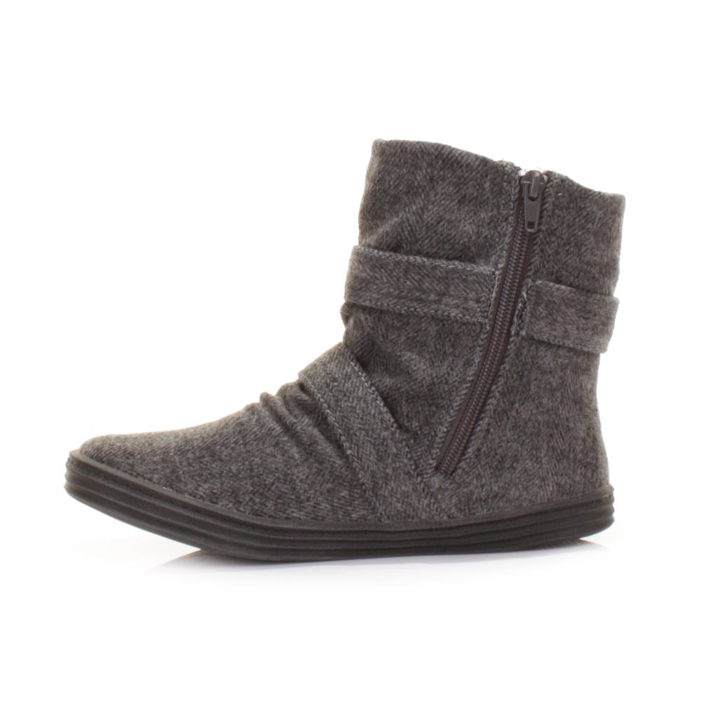 Womens Grey Ankle Boots XJ6h0QyV