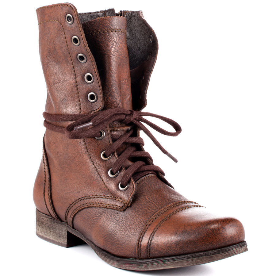 Womens Leather Combat Boots H9oORv1i