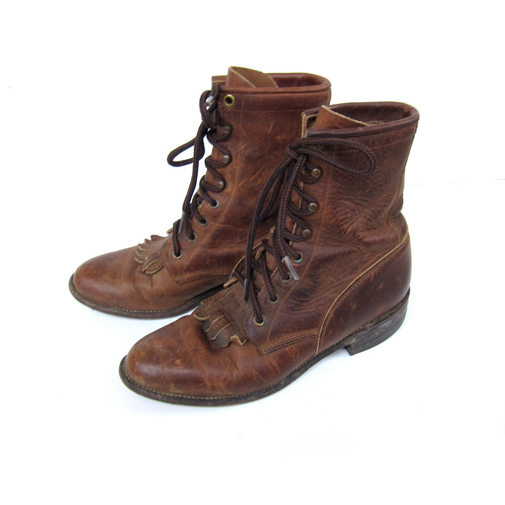 Womens Leather Lace Up Boots FFj4tv5c