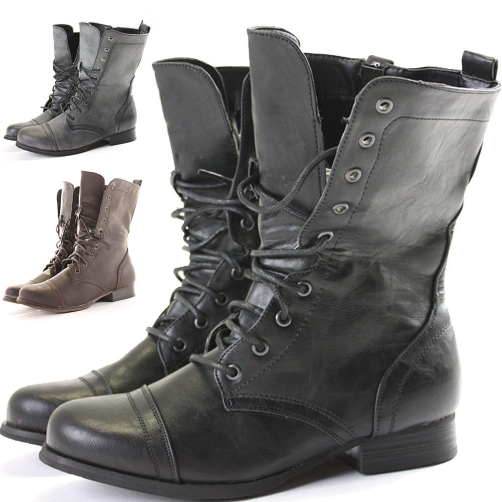 Womens Military Boots 86maCHAZ
