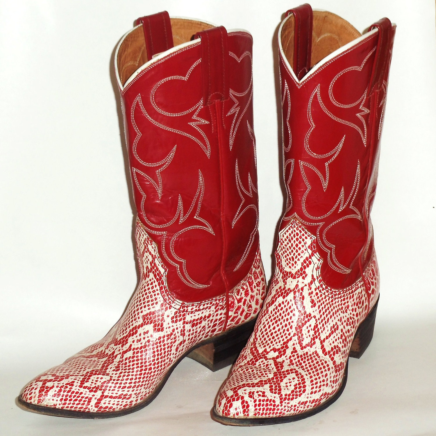 Womens Red Cowboy Boots mok66hb6