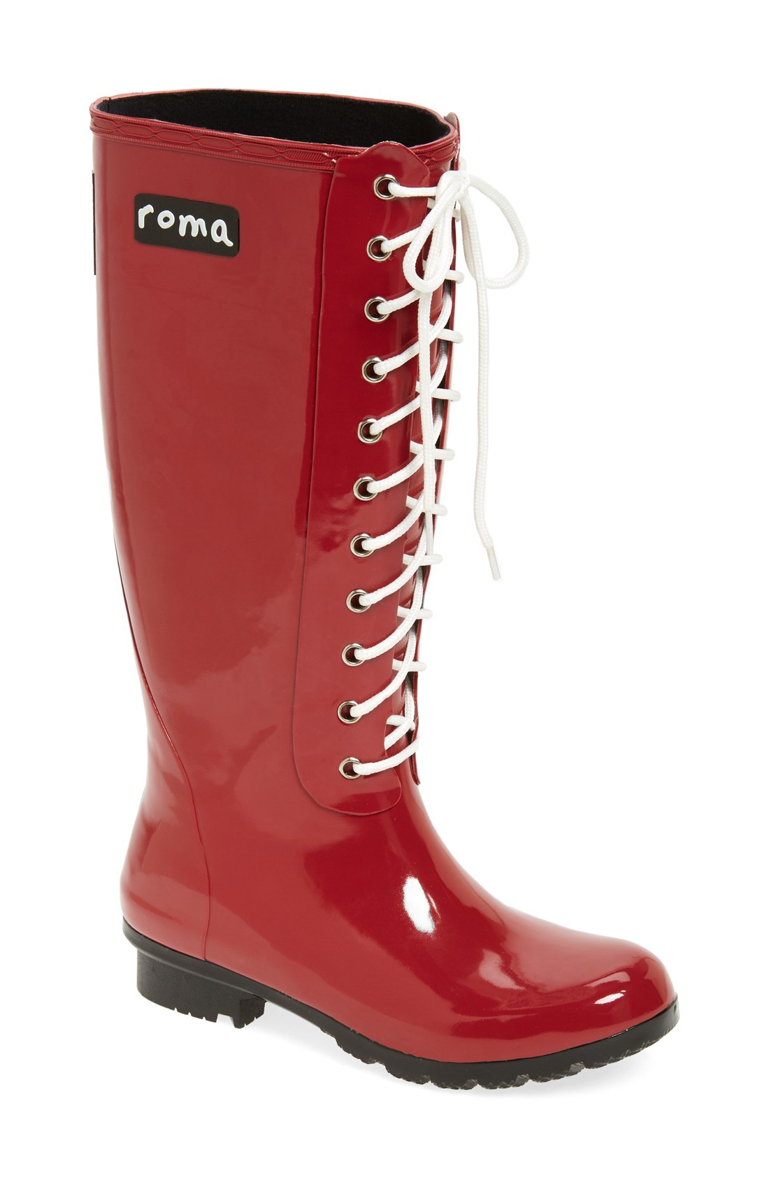 Womens Red Rain Boots Y8CR5Qmo