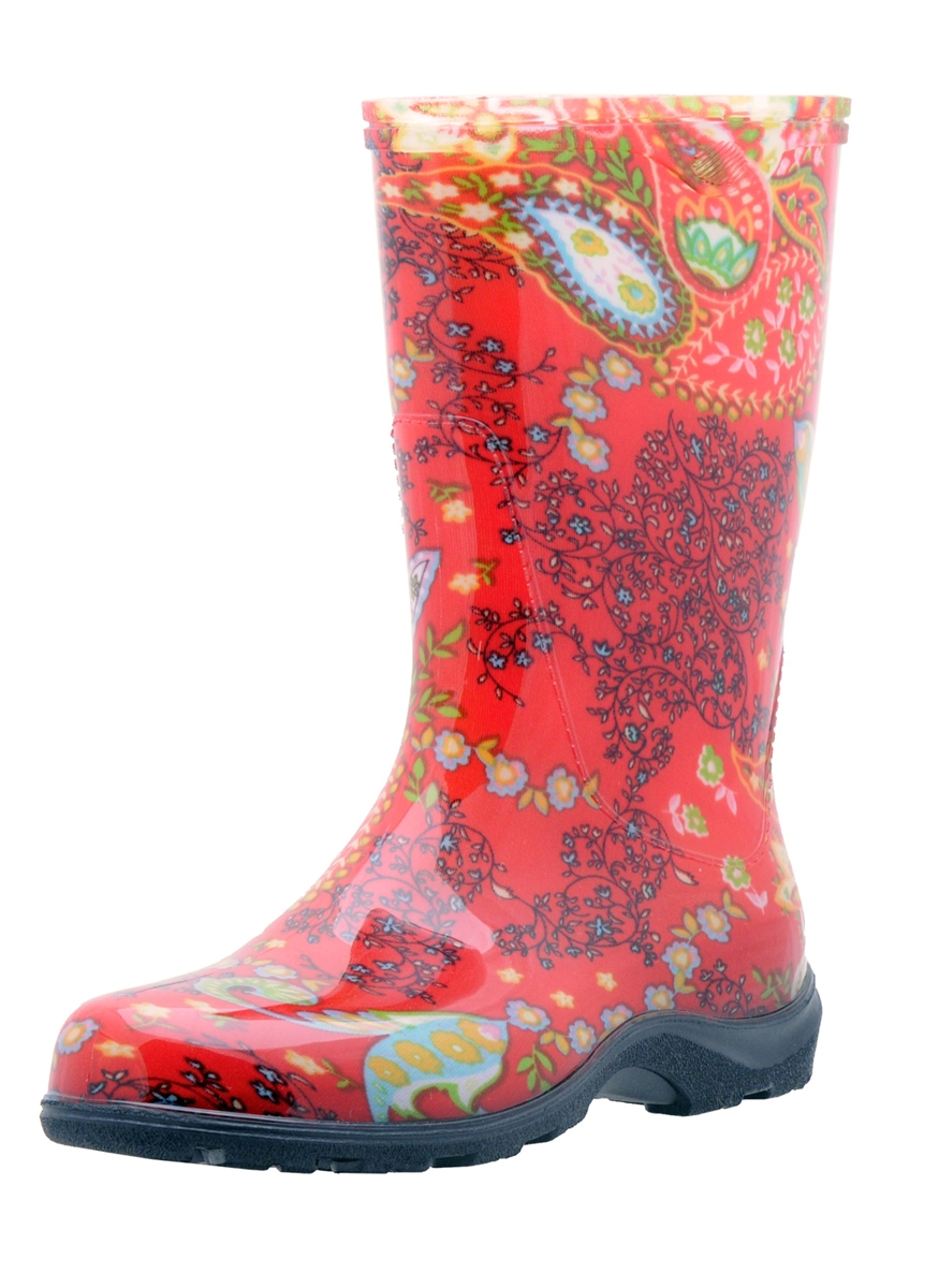 Womens Red Rain Boots HuHW7FoK