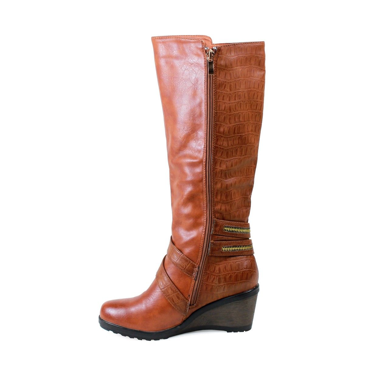 Womens Wedge Boots 7RDC08p2