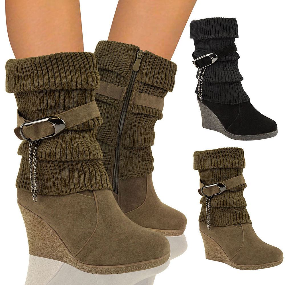Womens Wedge Boots J6kPRxR1