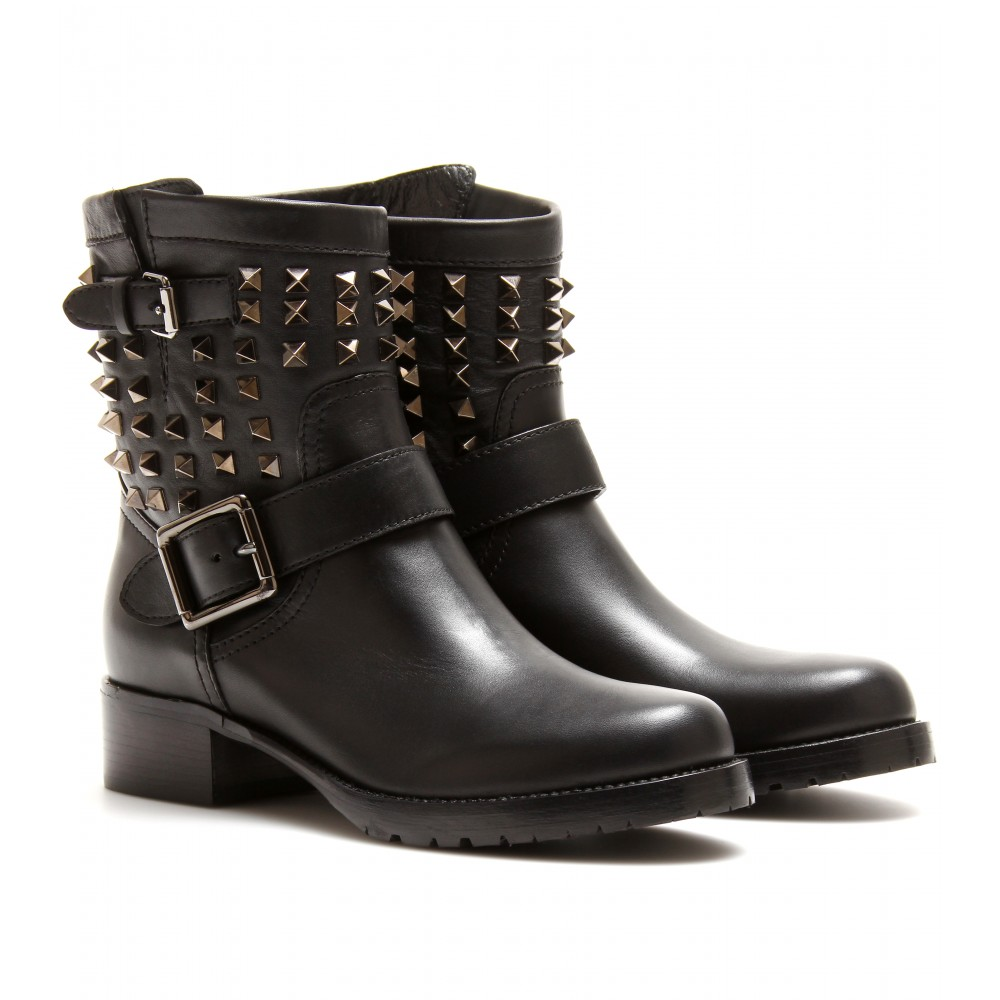 Ankle Leather Boots Jb01PUED