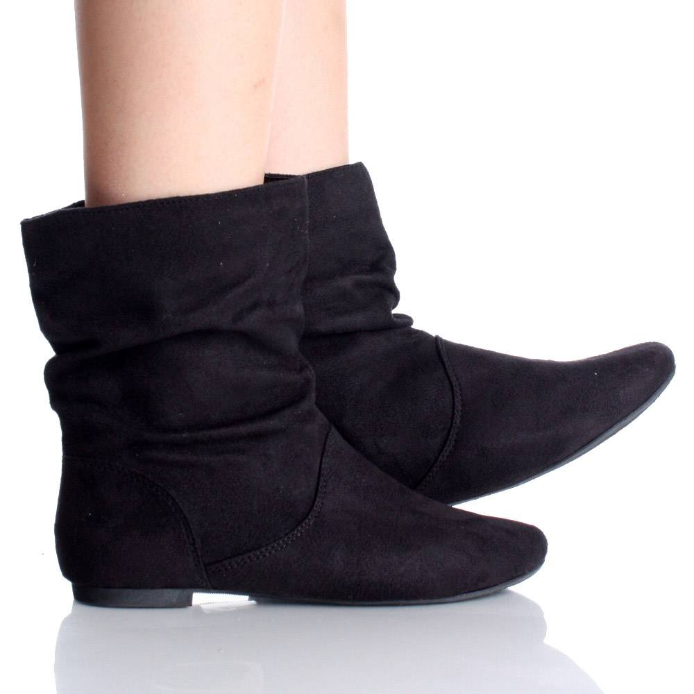 Black Ankle Boots Flat 3bwDqTTn