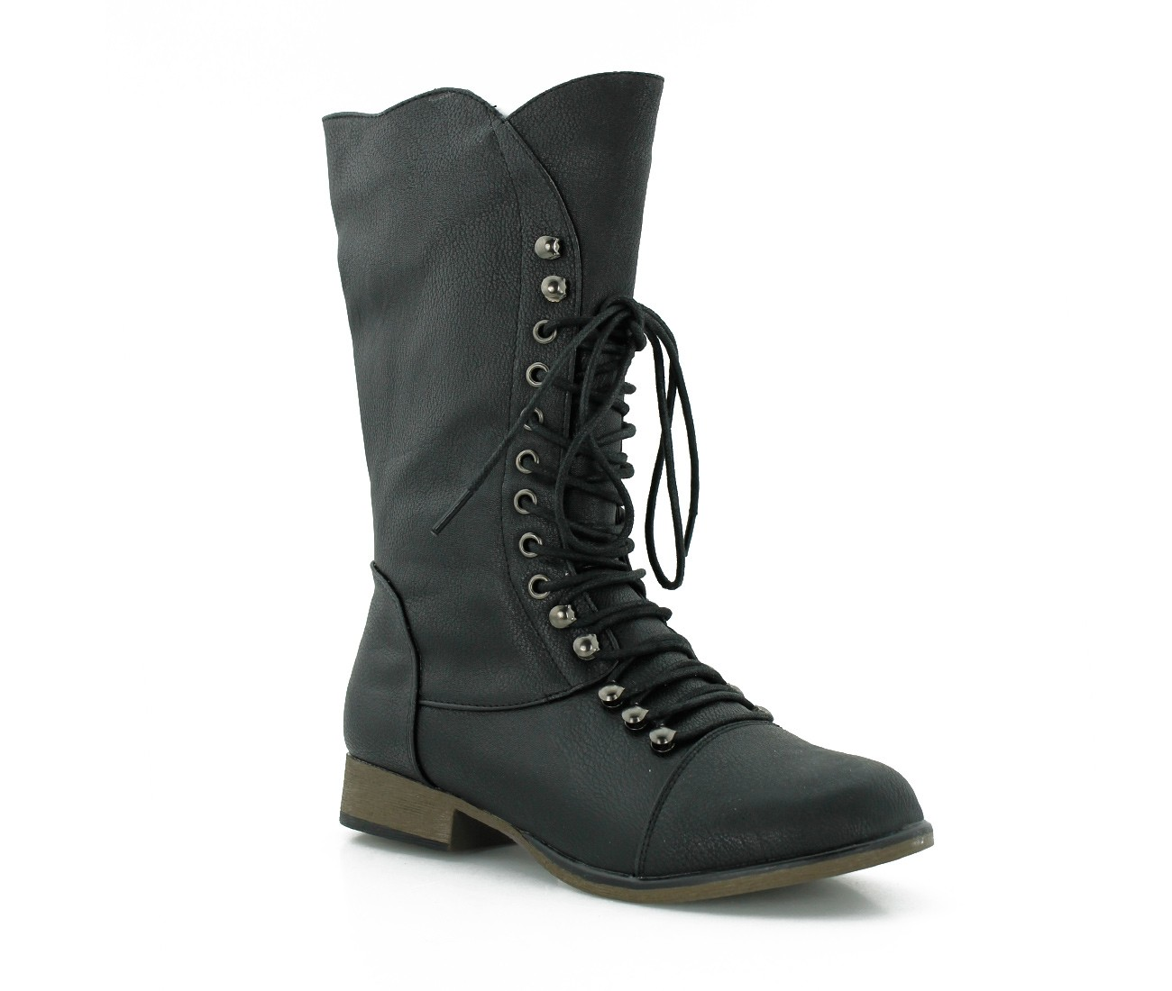 Black Lace Up Combat Boots 5l8tF9AW