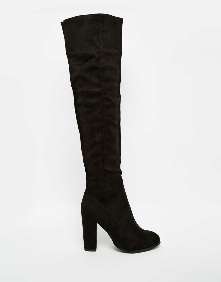 Black Over The Knee Boots With Heel lxdVAj0h