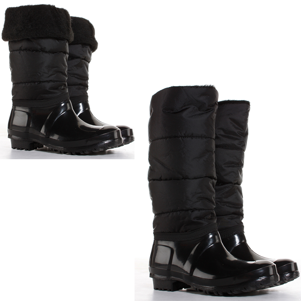 Black Snow Boots For Womens Waterproof - Boot Yc