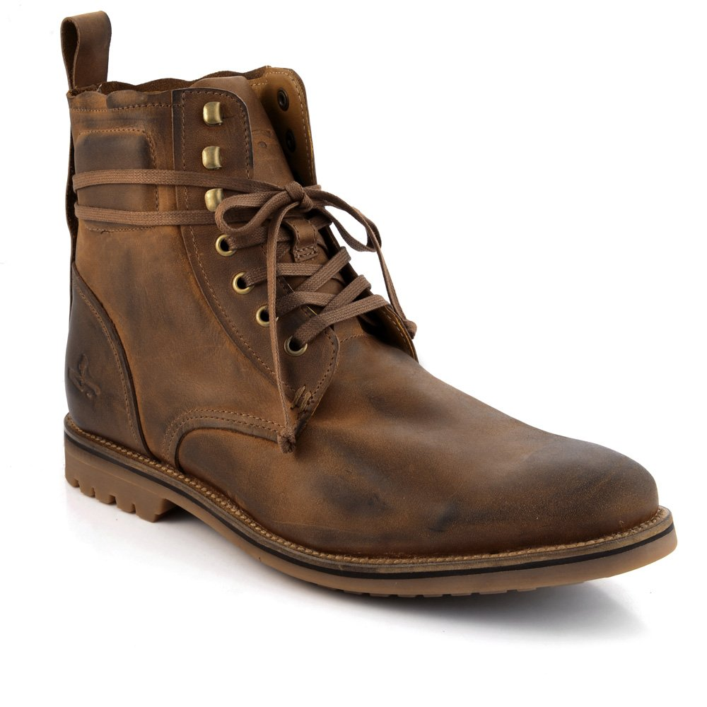 Brown Leather Boots Men jkrEOMPA