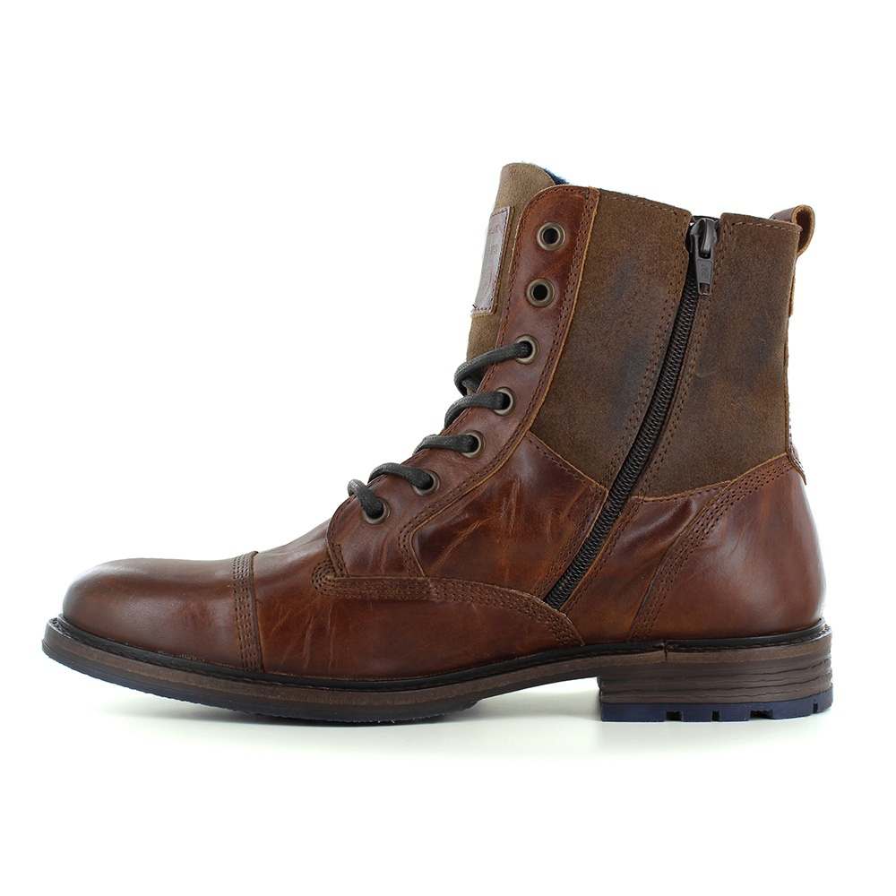 Brown Leather Boots Men SKYnD2BE