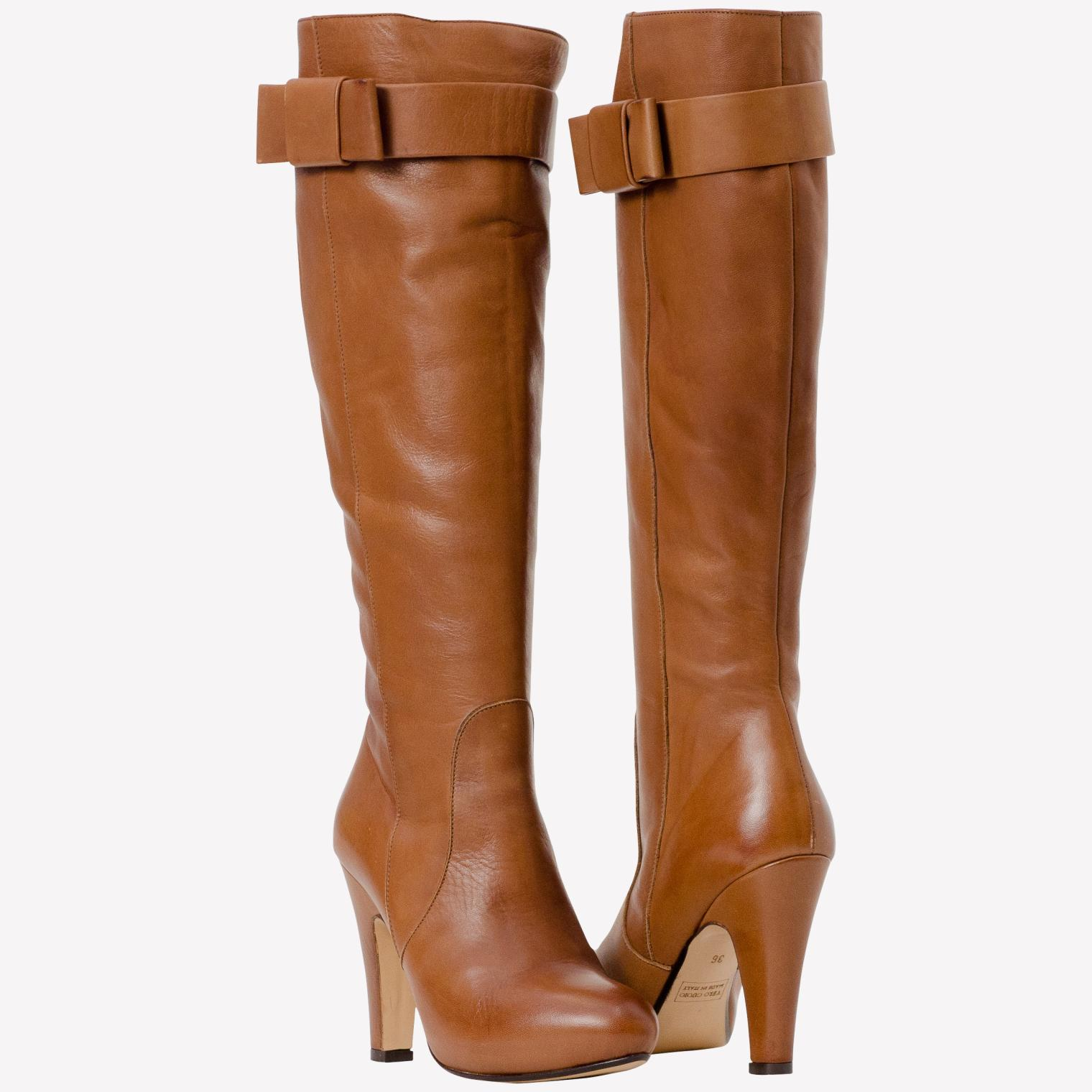 Women Brown Leather Boots