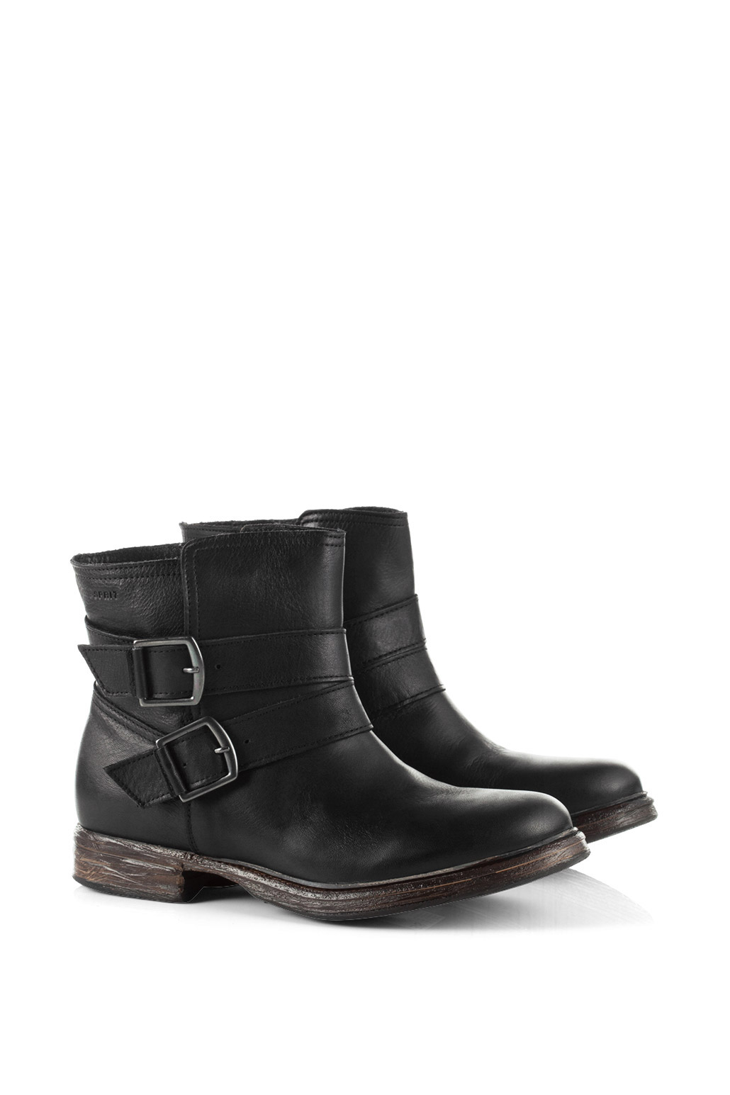 flat black leather ankle boots boot yc