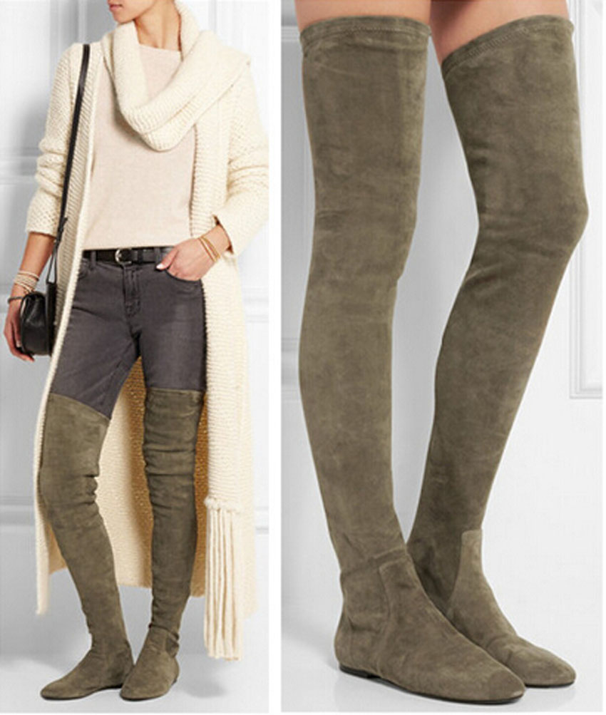 Flat Thigh High Boots For Women TJDjzNlL