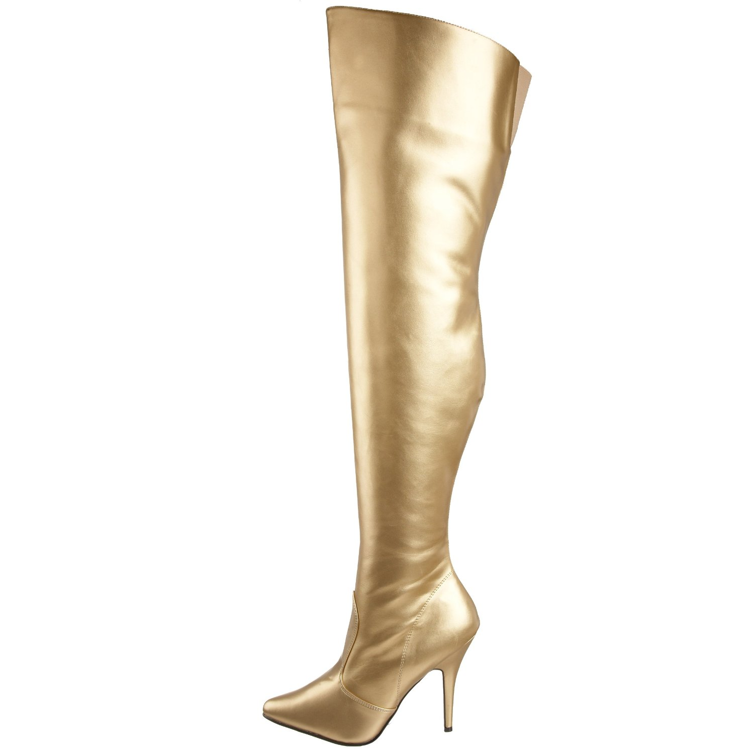Gold Thigh High Boots bywvEI6J
