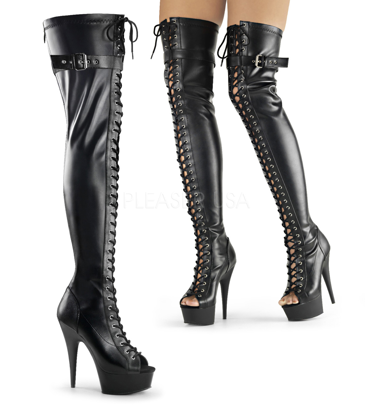 Pleaser Thigh High Boots oeYSSI8W