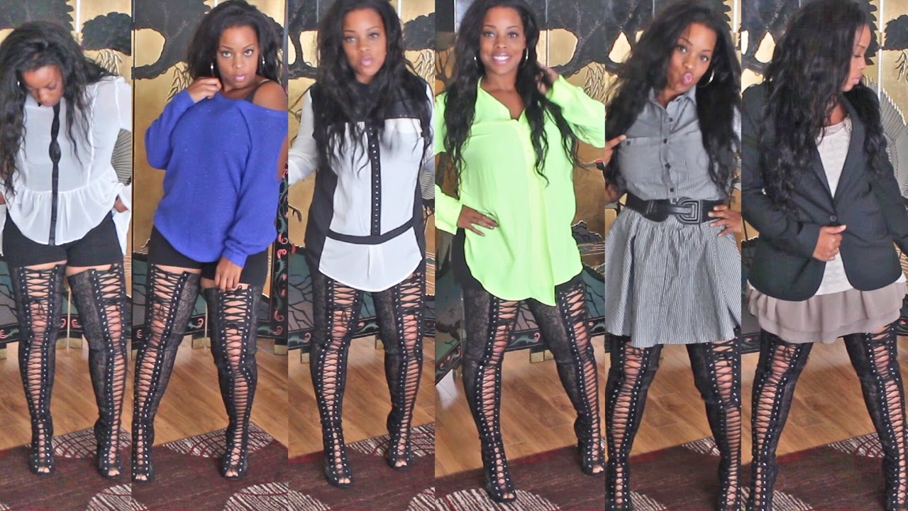 f1f8b2397029 Plus Size Lace Up Thigh High Boots. 01.09.2016  Boot Yc ...