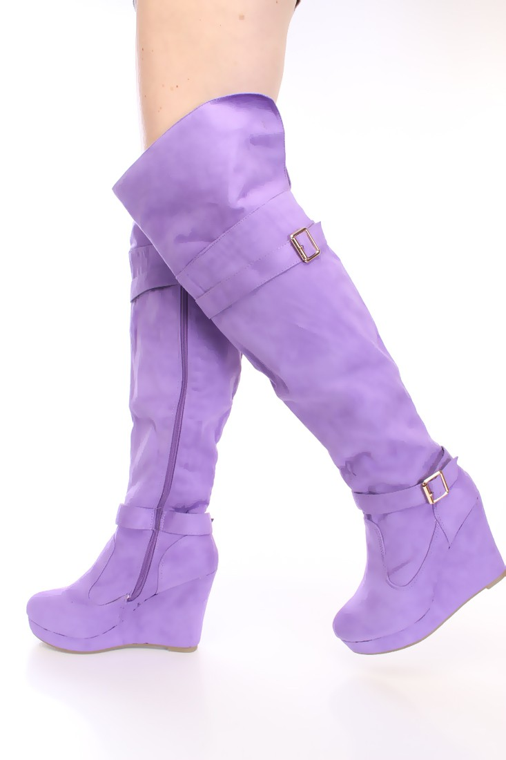Purple Thigh High Boots 3OIbgGwm