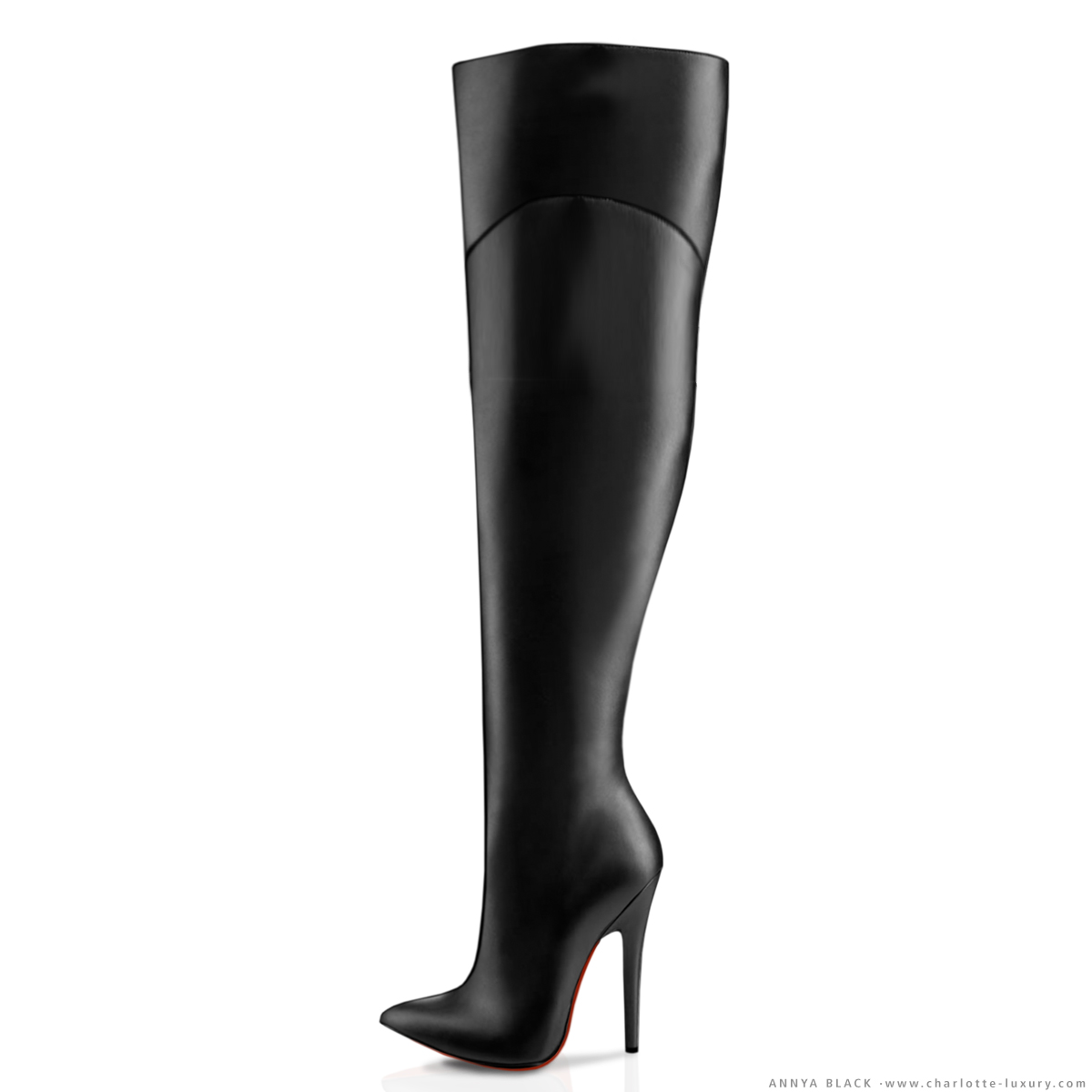 Real Leather Thigh High Boots - Boot Yc