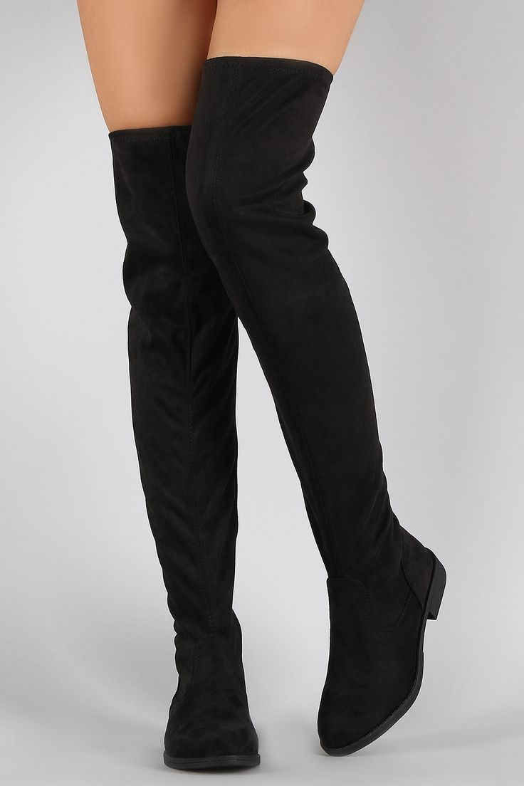 Thigh High Boots Without Heel Boot Yc
