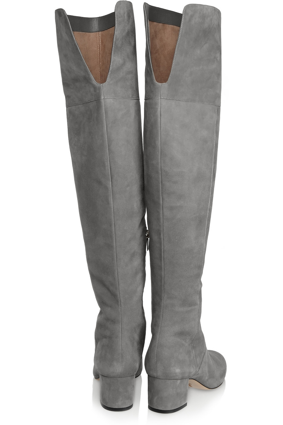 Thigh High Grey Suede Boots feMhZk3Y