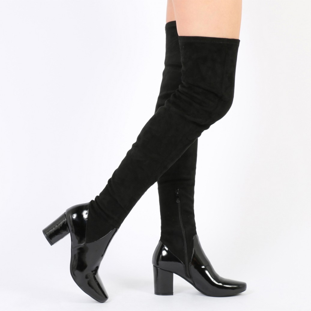 Thigh High Lace Up Flat Boots KC9E0ieW