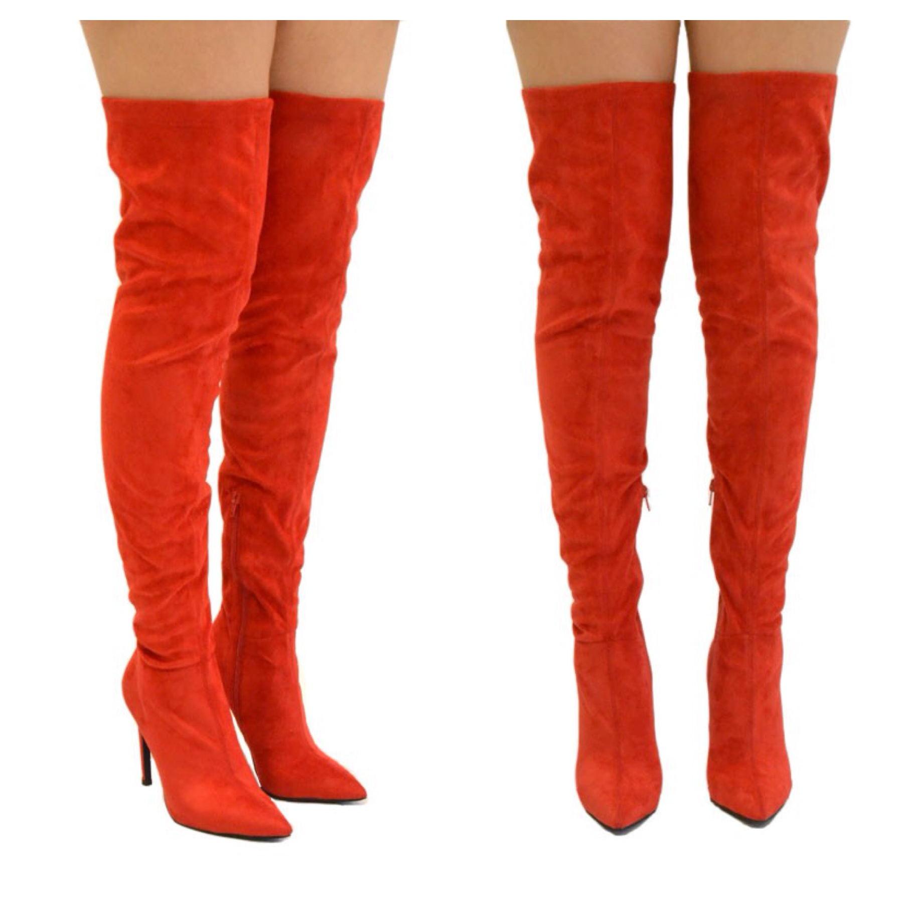 Thigh High Red Boots XQvvdKFu