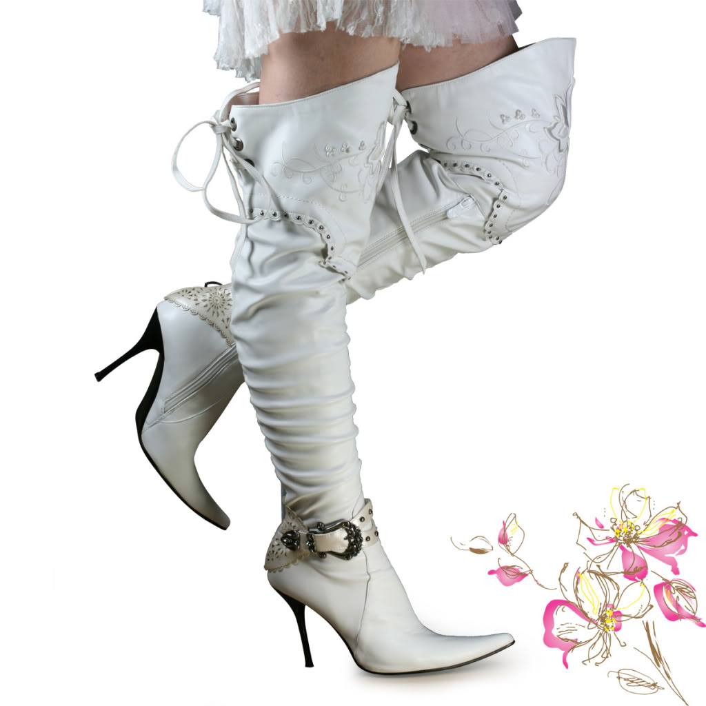 White Leather Boots For Women xdL8dGKv