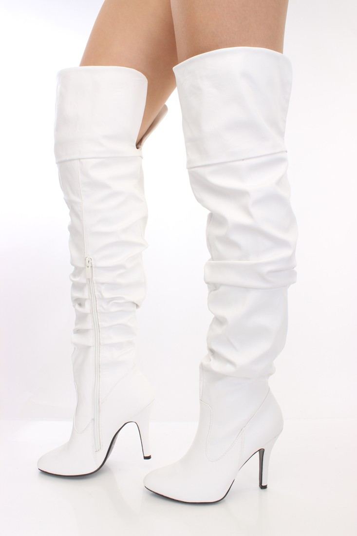 White Over The Knee Boots 6HmRcFFy